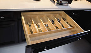 Butler's pantry drawer organizer.