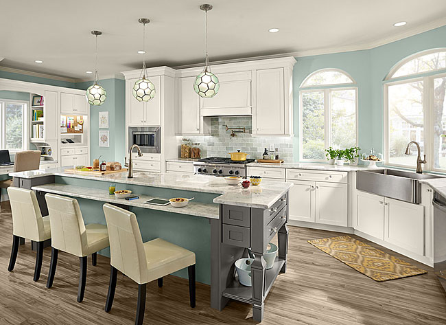 Maple Kitchen In Dove White Kraftmaid