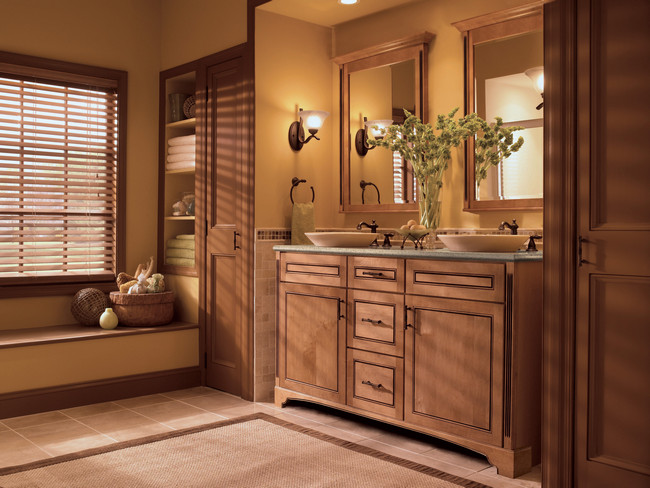 Traditional fluting carries classic formality throughout the space.