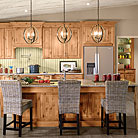 This kitchen features a baking station with a base mixer shelf to save your back and tired arms from having to lug that heavy mixer.  For extra storage we've also added a wall multi-storage pantry for all the baking supplies as well as a oven cabinet for all your casserole dishes and pans.  Also, included is a auto-open wastebasket that opens and closes with a nudge for when your hands are messy.