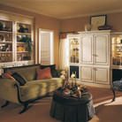 Maple cabinetry with an Biscotti with Coconut Glaze makes this a comfortable room for quiet relaxation.