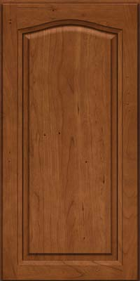 Arch Raised Panel - Solid (NFC) Cherry in Antique Chocolate w/Mocha Glaze - Wall