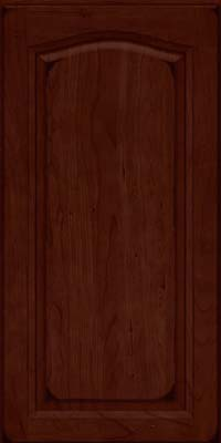 Arch Raised Panel - Solid (NFC) Cherry in Burnished Cabernet - Wall
