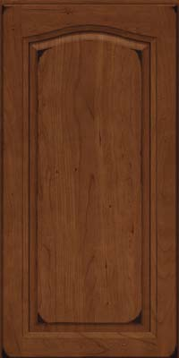 Arch Raised Panel - Solid (NFC) Cherry in Burnished Chocolate - Wall