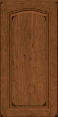 Arch Raised Panel - Solid (NFC) Cherry in Burnished Rye - Wall