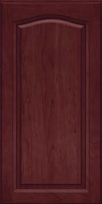 Arch Raised Panel - Solid (NFC) Cherry in Cabernet - Wall