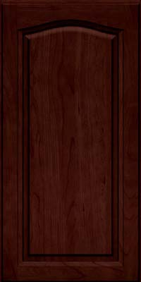 Arch Raised Panel - Solid (NFC) Cherry in Cabernet w/Onyx Glaze - Wall