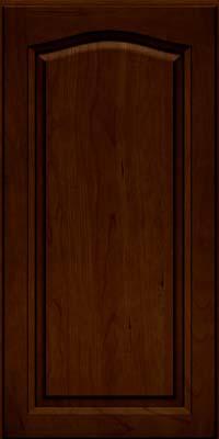 Arch Raised Panel - Solid (NFC) Cherry in Chocolate w/Ebony Glaze - Wall