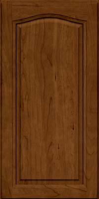 Arch Raised Panel - Solid (NFC) Cherry in Ginger w/Sable Glaze - Wall