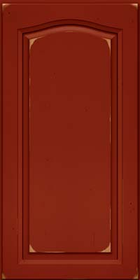 Arch Raised Panel - Solid (NFC) Cherry in Vintage Cardinal - Wall