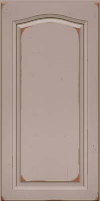 Arch Raised Panel - Solid (NFC) Cherry in Vintage Pebble Grey - Wall