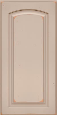 Arch Raised Panel - Solid (PWC1) Cherry in Vintage Chai - Base