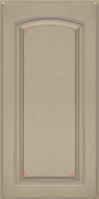 Arch Raised Panel - Solid (PWC1) Cherry in Vintage Willow w/Coconut Patina - Base