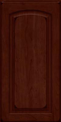Arch Raised Panel - Solid (PWC) Cherry in Burnished Cabernet - Wall