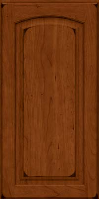 Arch Raised Panel - Solid (PWC) Cherry in Burnished Cinnamon - Wall