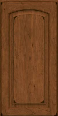 Arch Raised Panel - Solid (PWC) Cherry in Burnished Rye - Wall