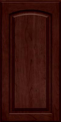 Arch Raised Panel - Solid (PWC) Cherry in Cabernet - Wall