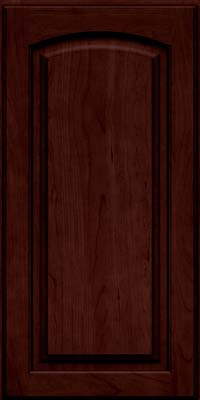 Arch Raised Panel - Solid (PWC) Cherry in Cabernet w/Onyx Glaze - Wall