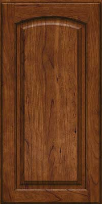 Arch Raised Panel - Solid (PWC) Cherry in Cognac - Wall
