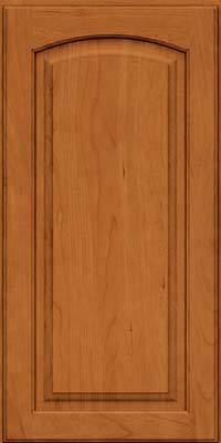 Arch Raised Panel - Solid (PWC) Cherry in Honey Spice - Wall