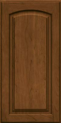Arch Raised Panel - Solid (PWC) Cherry in Rye w/Onyx Glaze - Wall