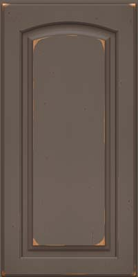 Arch Raised Panel - Solid (PWC) Cherry in Vintage Greyloft w/ Sable Patina - Wall