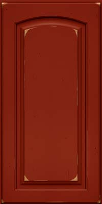 Arch Raised Panel - Solid (PWC) Cherry in Vintage Cardinal - Wall