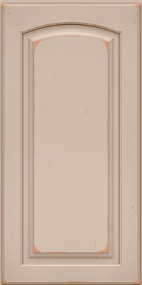 Arch Raised Panel - Solid (PWC1) Cherry in Vintage Chai - Wall