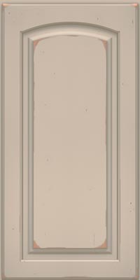 Arch Raised Panel - Solid (PWC1) Cherry in Vintage Chai w/Cinder Patina - Wall