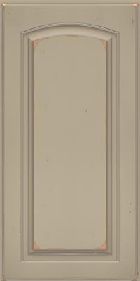 Arch Raised Panel - Solid (PWC1) Cherry in Vintage Willow w/Coconut Patina - Wall