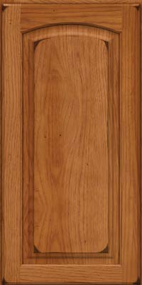 Arch Raised Panel - Solid (PWH) Hickory in Burnished Praline - Wall