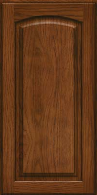 Arch Raised Panel - Solid (PWH) Hickory in Cognac - Wall