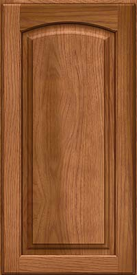 Arch Raised Panel - Solid (PWH) Hickory in Ginger w/Sable Glaze - Wall