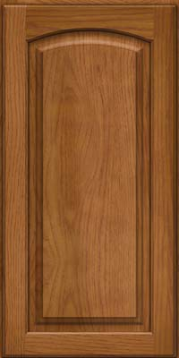 Arch Raised Panel - Solid (PWH) Hickory in Golden Lager - Wall