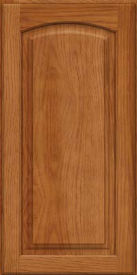 Arch Raised Panel - Solid (PWH) Hickory in Praline - Wall