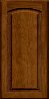 Arch Raised Panel - Solid (PWH) Hickory in Praline w/Onyx Glaze - Wall