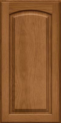 Arch Raised Panel - Solid (PWH) Hickory in Rye - Wall