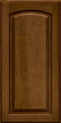 Arch Raised Panel - Solid (PWH) Hickory in Rye w/Onyx Glaze - Wall