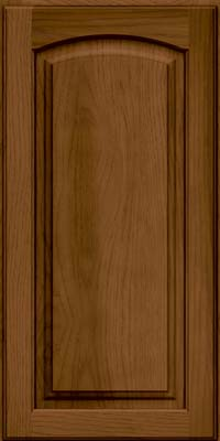 Arch Raised Panel - Solid (PWH) Hickory in Rye w/Sable Glaze - Wall