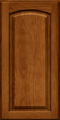 Arch Raised Panel - Solid (PWH) Hickory in Sunset - Wall