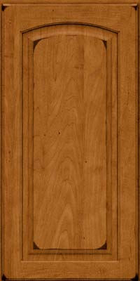 Arch Raised Panel - Solid (PWM) Maple in Burnished Golden Lager - Wall