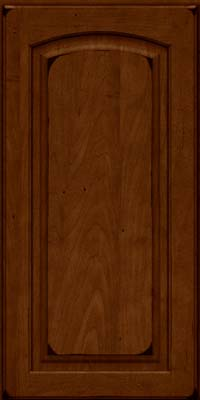 Arch Raised Panel - Solid (PWM) Maple in Burnished Chestnut - Wall