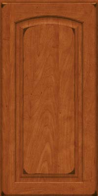 Arch Raised Panel - Solid (PWM) Maple in Burnished Cinnamon - Wall