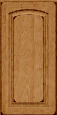 Arch Raised Panel - Solid (PWM) Maple in Burnished Ginger - Wall