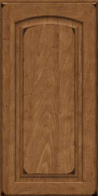 Arch Raised Panel - Solid (PWM) Maple in Burnished Rye - Wall