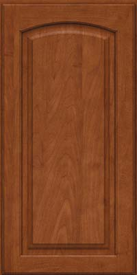 Arch Raised Panel - Solid (PWM) Maple in Chestnut - Wall