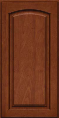 Arch Raised Panel - Solid (PWM) Maple in Chestnut w/Onyx Glaze - Wall