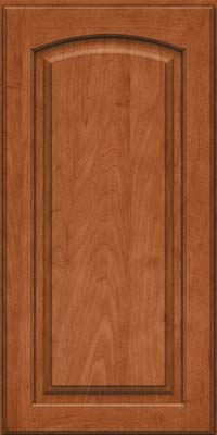 Arch Raised Panel - Solid (PWM) Maple in Cinnamon - Wall