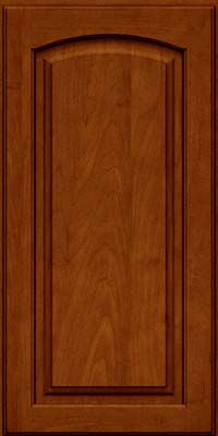 Arch Raised Panel - Solid (PWM) Maple in Cinnamon w/Onyx Glaze - Wall