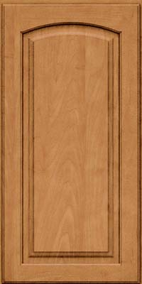 Arch Raised Panel - Solid (PWM) Maple in Ginger w/Sable Glaze - Wall